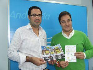 Silvestre Castells junto a Pepelu García, Presidente de Nuevas Generaciones Sevilla