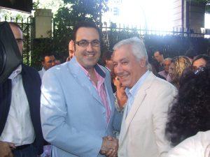 Javier Arenas junto a Silvestre Castells
