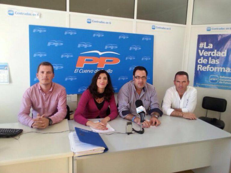 Silvia Heredia Diputada Nacional del PP, denuncio ayer en El Cuervo la falta de ejecución de las partidas dedicadas a las políticas activas de empleo de la Junta