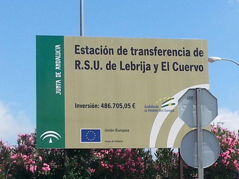 El PP pide explicaciones sobre el proyecto de la estación de transferencias para residuos sólidos urbanos en Lebrija y El Cuervo