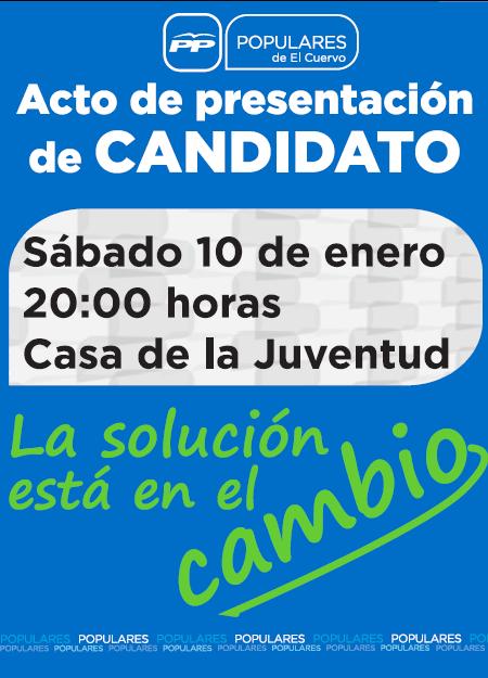 Acto de Presentación de Candidato, 10 de Enero de 2015