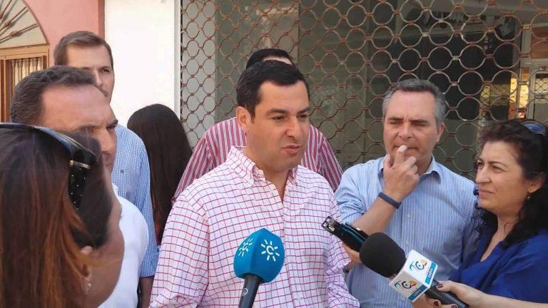El Presidente del PP-A Juanma Moreno visita El Cuervo