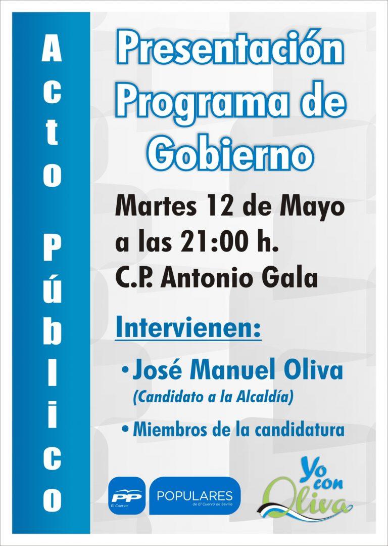 El martes 12 de Mayo presentamos nuestro Programa de Gobierno