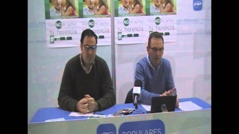 El PP de El Cuervo presenta la campaña de recogida de firmas bajo el lema Hereda 100%