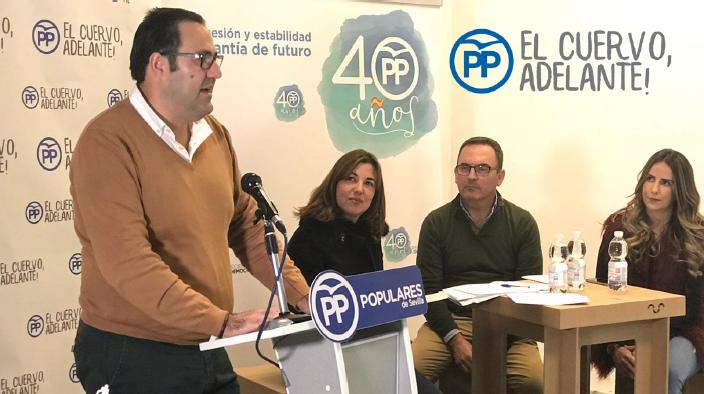 Silvestre Castells reelegido como presidente del PP en El Cuervo