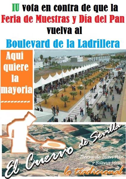 IU vota en contra la moción del PP que pide la celebración del Día del Pan en el Boulevard de la Ladrillera