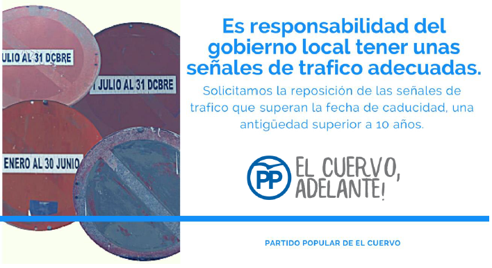 La segunda propuesta de los Populares presentada en el pleno de julio pidiendo la mejora de las señales de tráfico contó con el respaldo unánime de la corporación municipal
