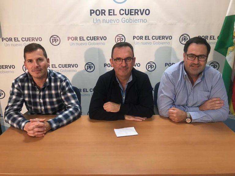 El PP de El Cuervo considera que la crisis de Gobierno Municipal es ficticia y acusa al alcalde Francisco Cordero de narcisista y prepotente