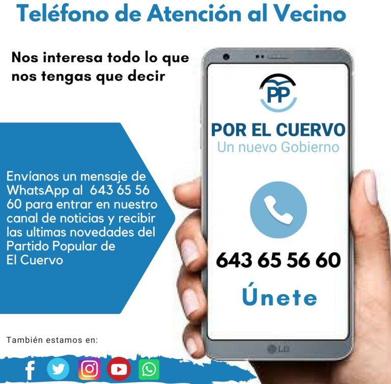 Teléfono de Atención al Vecino