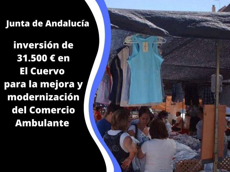 El Partido Popular celebra que El Cuervo sea beneficiario de la subvención para la mejora del comercio ambulante otorgada por la Junta de Andalucía