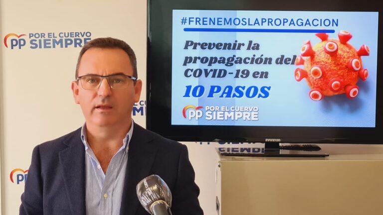 El PP pide al Sr. Alcalde que adopte medidas ante la alarmante situación ascendente de contagios por Covid-19 y presenta 10 pasos a seguir para prevenir la propagación